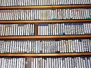 Shelves of Cassettes